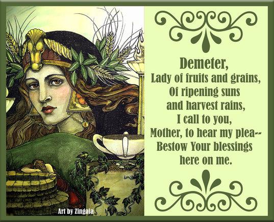 Demeter Sacred Wicca