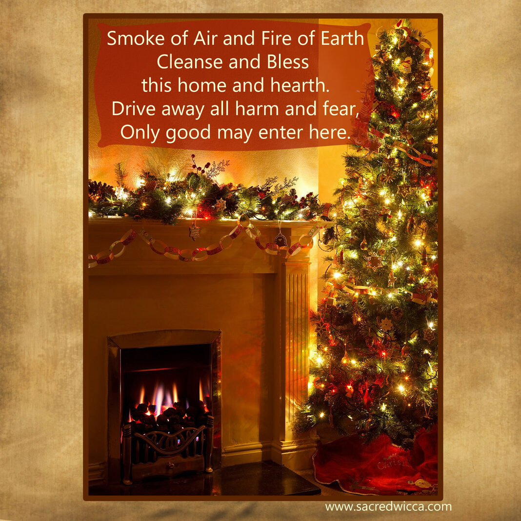 Yule House Blessing Sacred Wicca